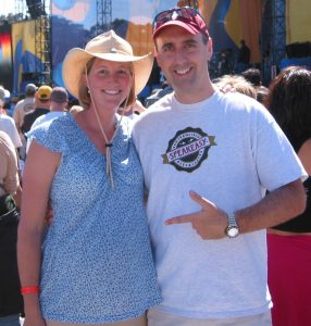 Here's Sue-- preggers with #2...at a Dave Matthews concert in Golden Gate Park...1 month to go.