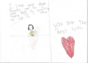 I Love your dook. Thanks you for saring your dook. It was vere nis I want to reb it. You are the dest testr.